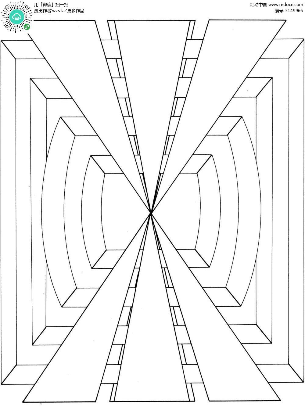 几何空间透视图形