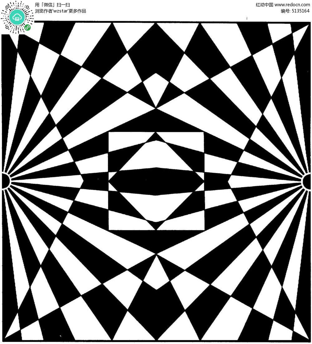 几何图形叠加花纹