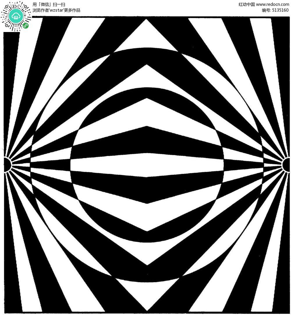 鏡像黑白花紋圖片
