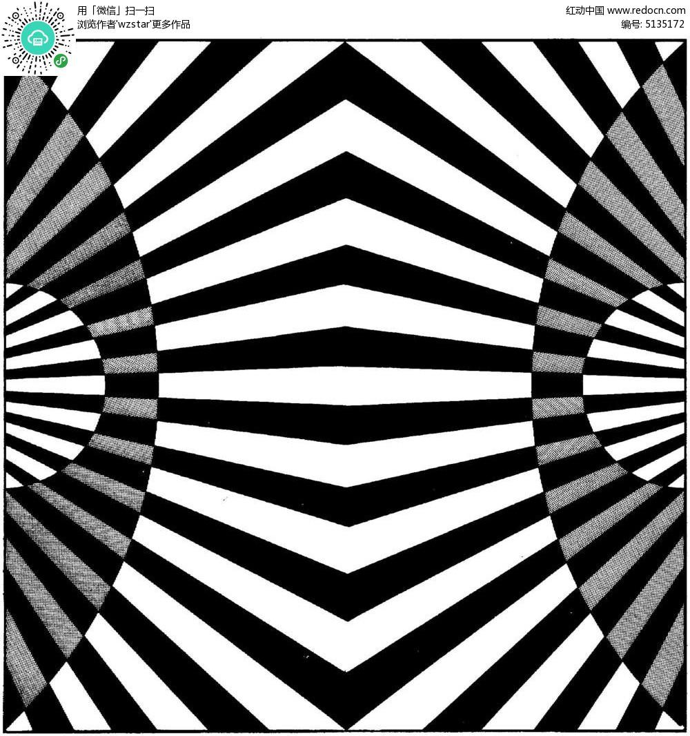 鏡像黑白鏤空花紋圖片