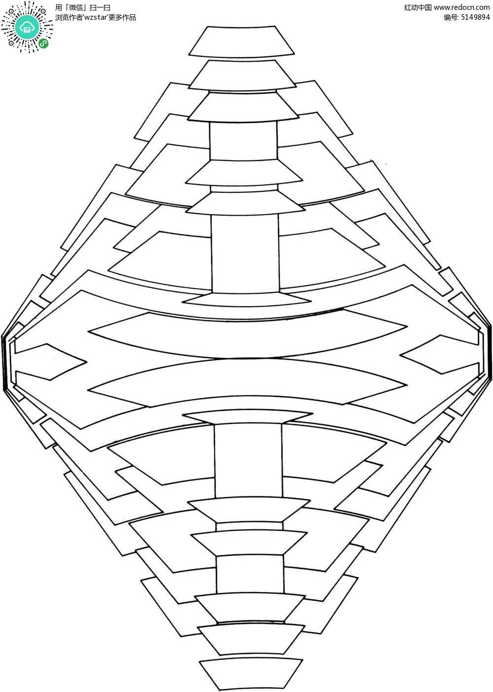 立体空间线条