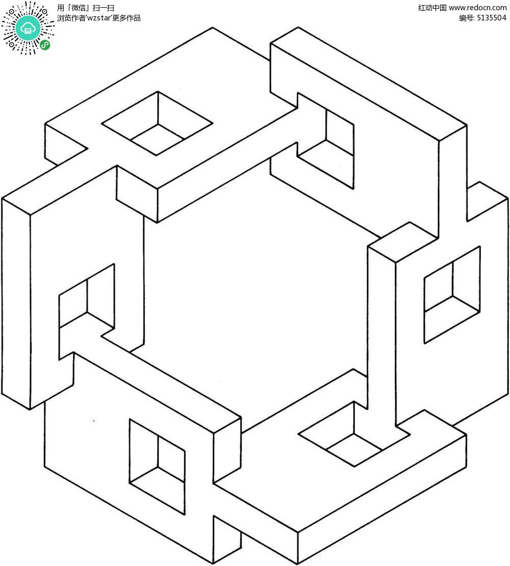 免费素材 psd素材 室内装饰 其他装饰 立体锁链空间图形  请您分享