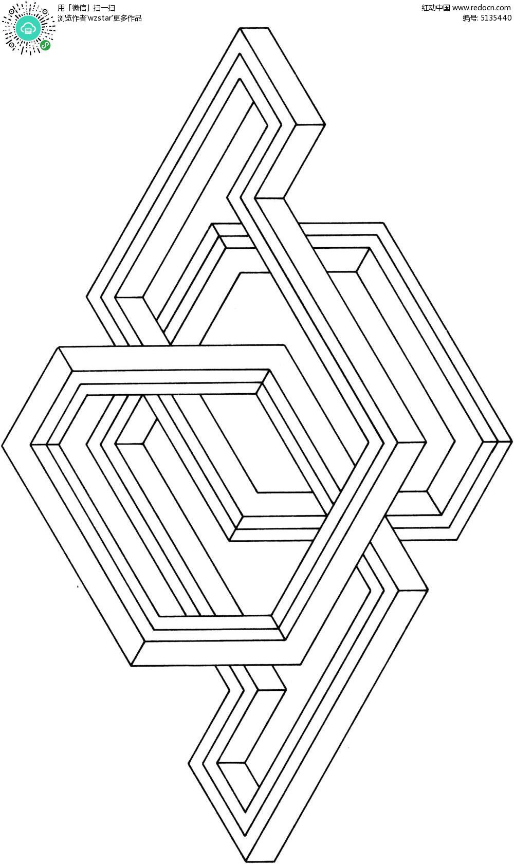 立体折线空间图形