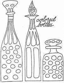 三个创意的瓶子