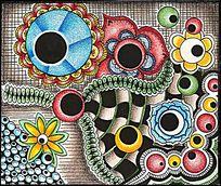 色彩构成装饰图