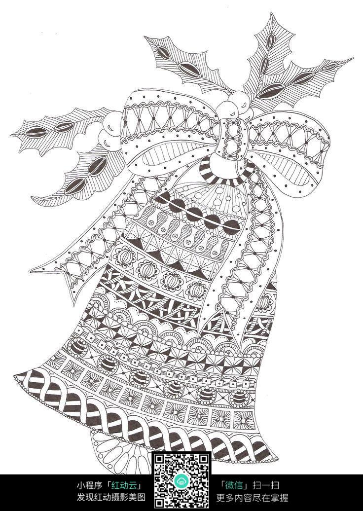 圣诞节创意铃铛手绘设计图片