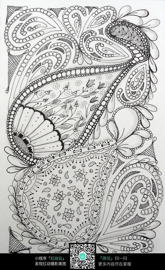 手绘花纹图案