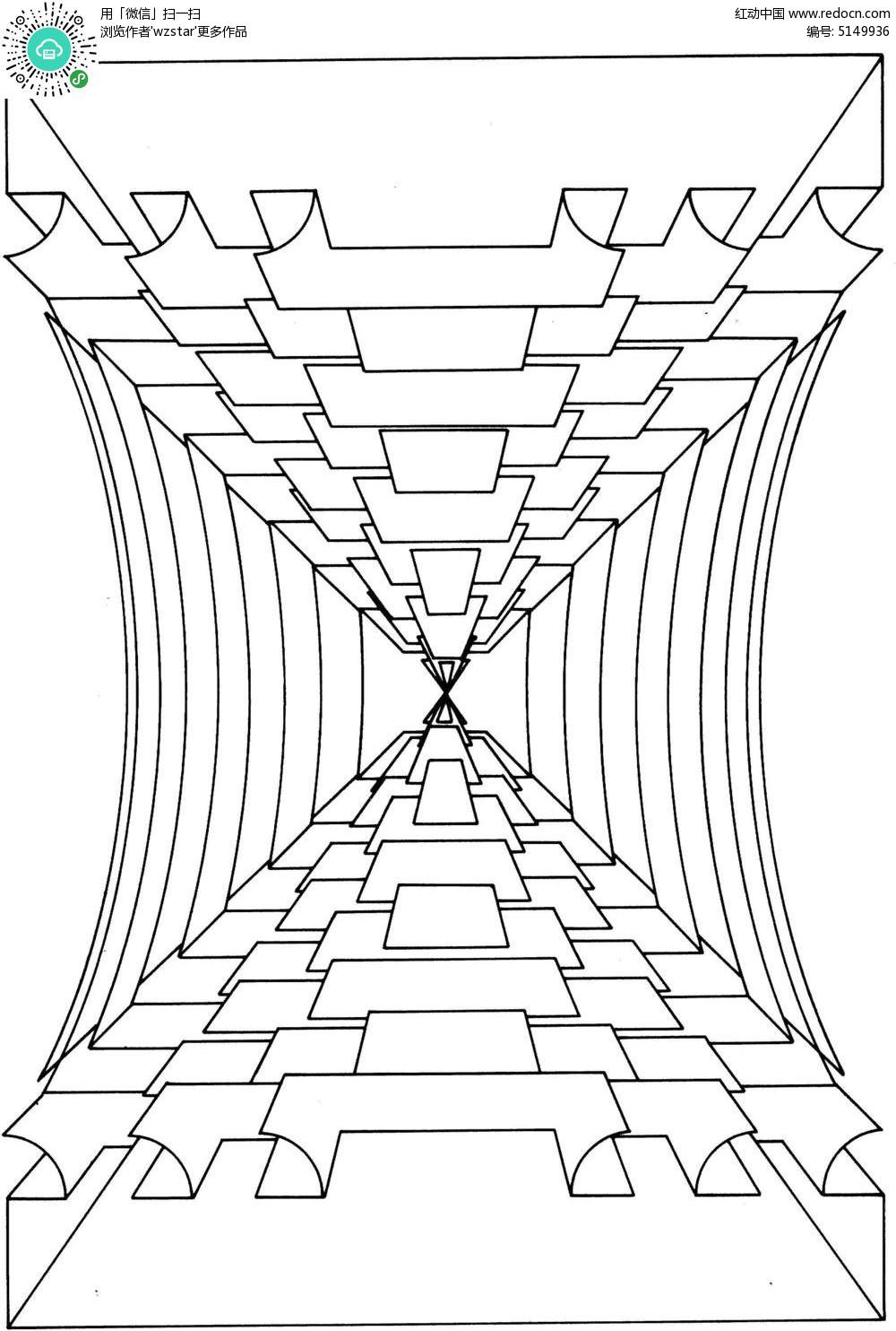 透视空间线条图形