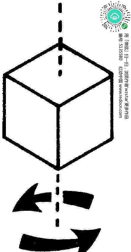 钩针四方体图解