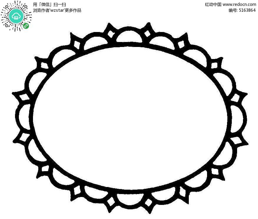 圆形花纹边框