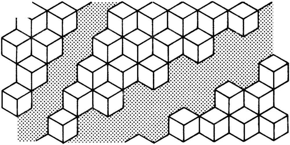 正方体组合花纹图片