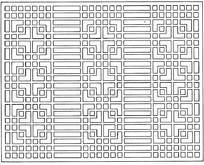 中式方形长条镂空花纹