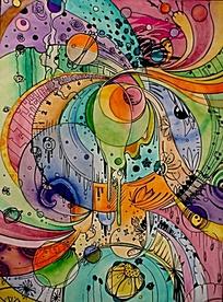 抽象色彩构成