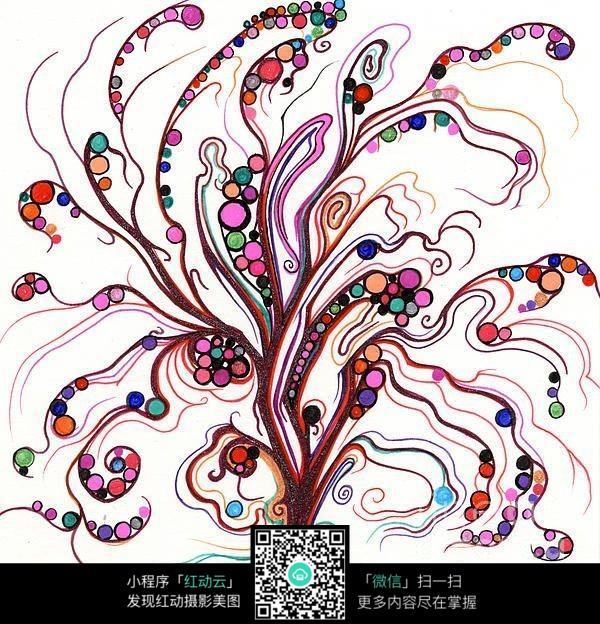 创意的大树手绘图片