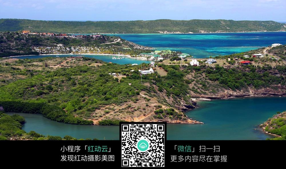 海岛全貌风景图图片