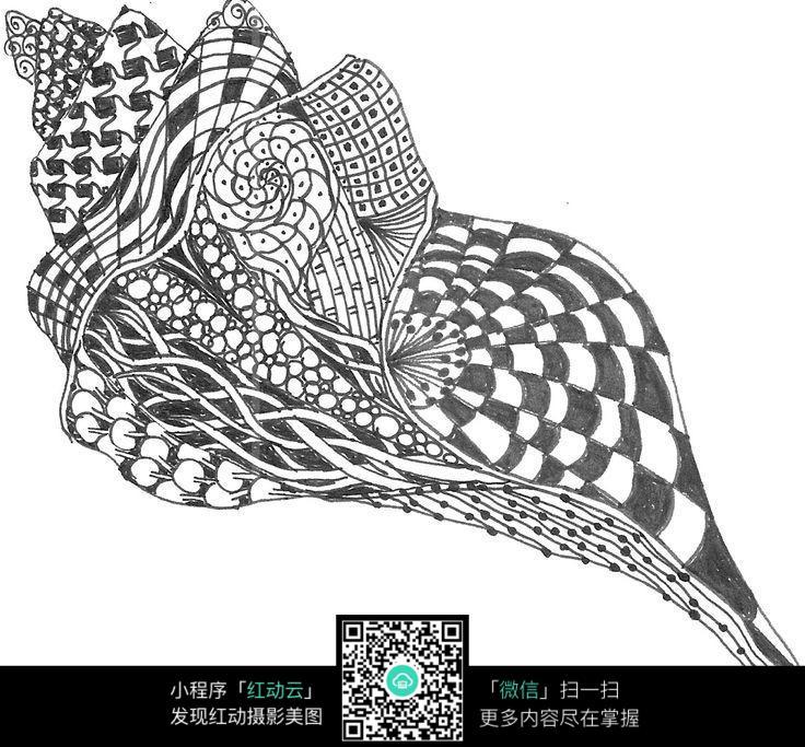 黑白格子插画设计