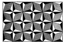 黑白四角形花纹