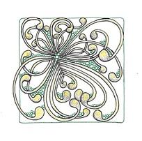 花边构成插画设计