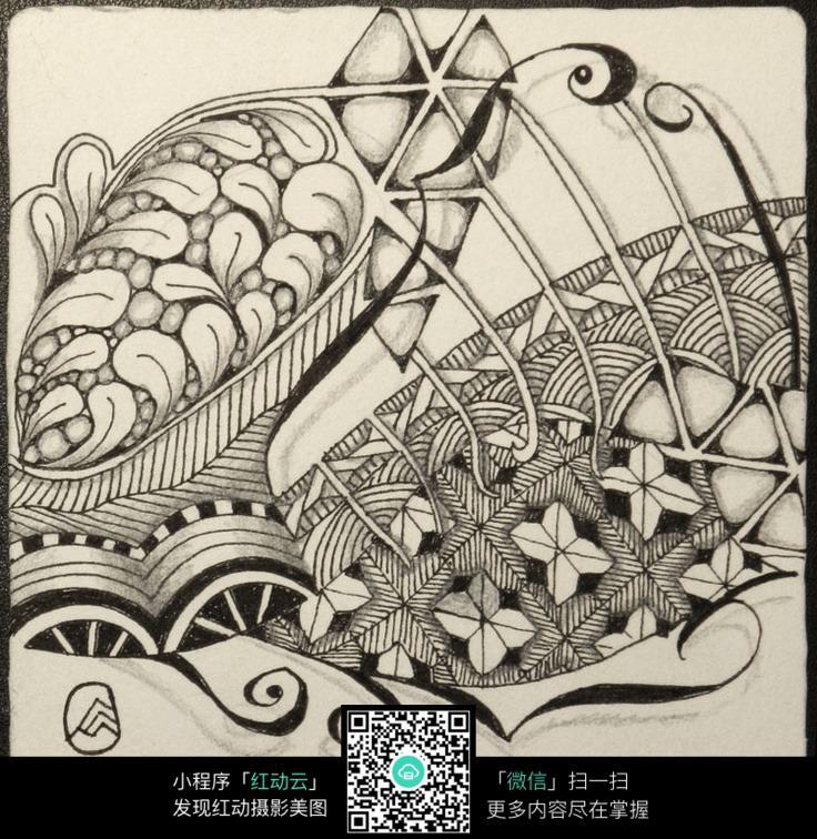 花边手绘插画设计