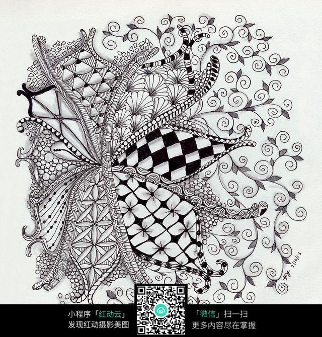 花纹底纹手绘图案图片