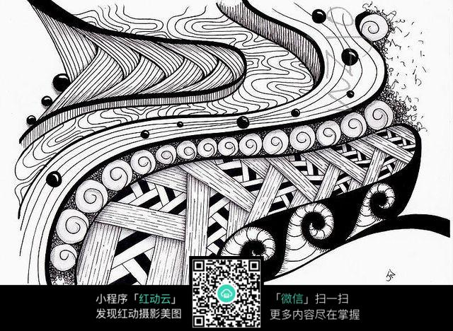 交织纹理复杂插画设计图片