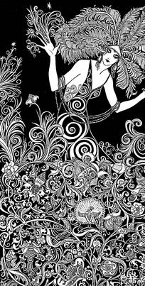 镂空花纹女人
