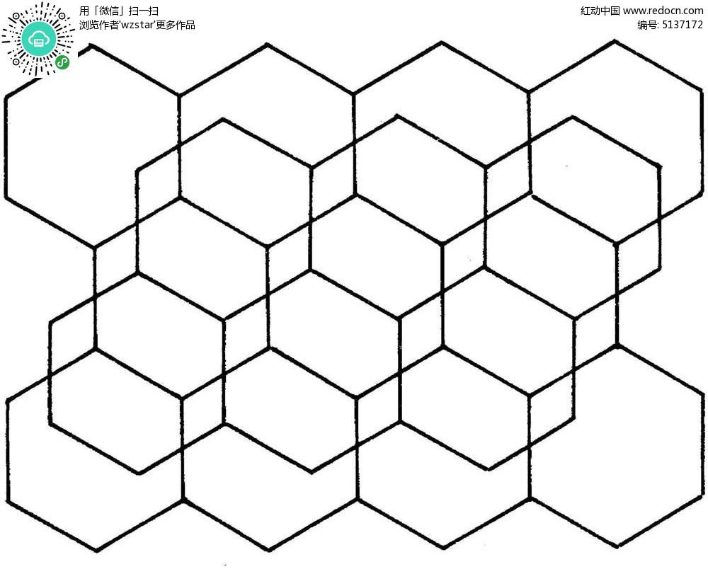 六边形线框图形TIF素材免费下载 编号5137172 红动网
