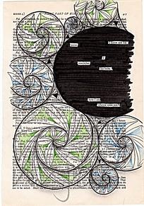 螺旋状淡彩花型设计