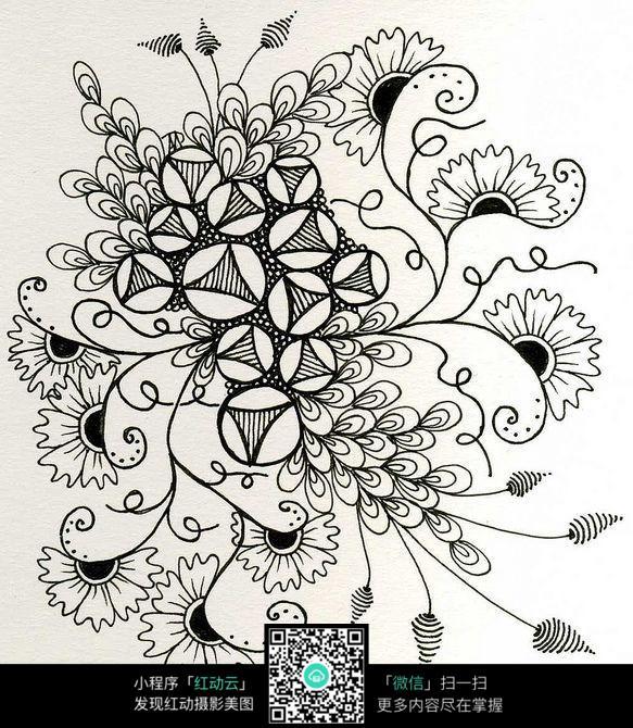 免费素材 图片素材 漫画插画 其他 美丽的花纹修饰