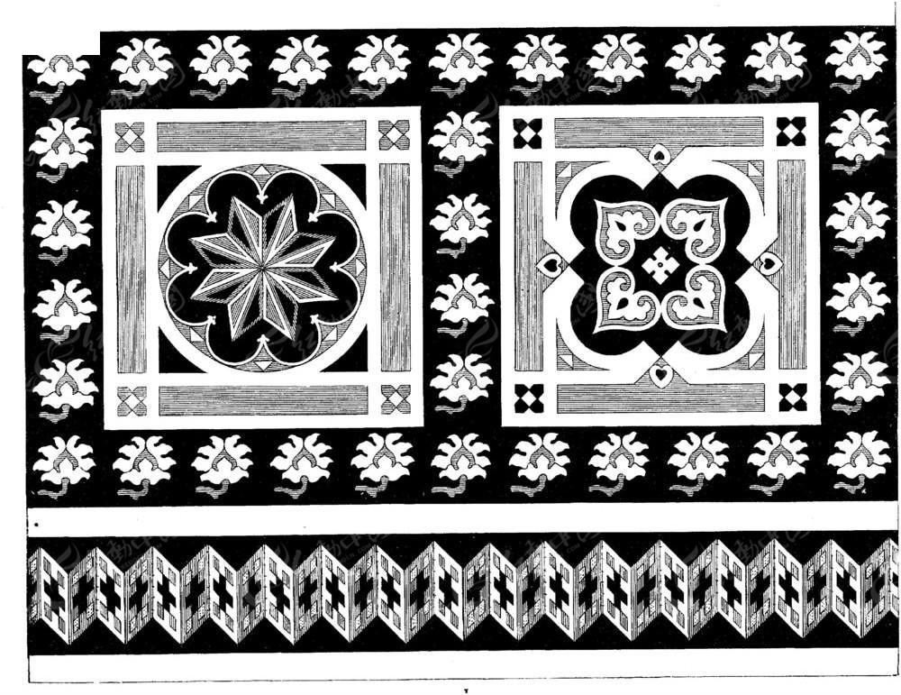 民族黑白花纹