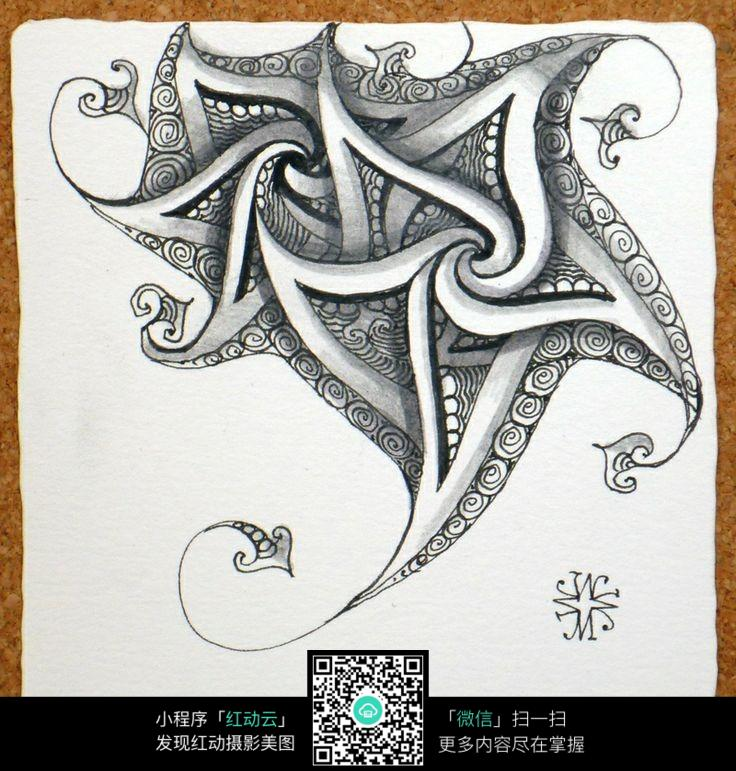 手绘插画图片抽象