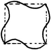四角旋转花纹