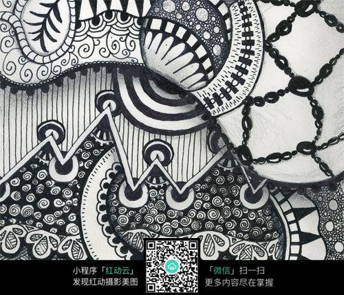 锁链 形象 网格 图形 条纹 网格 抽象 手绘 黑白 构成