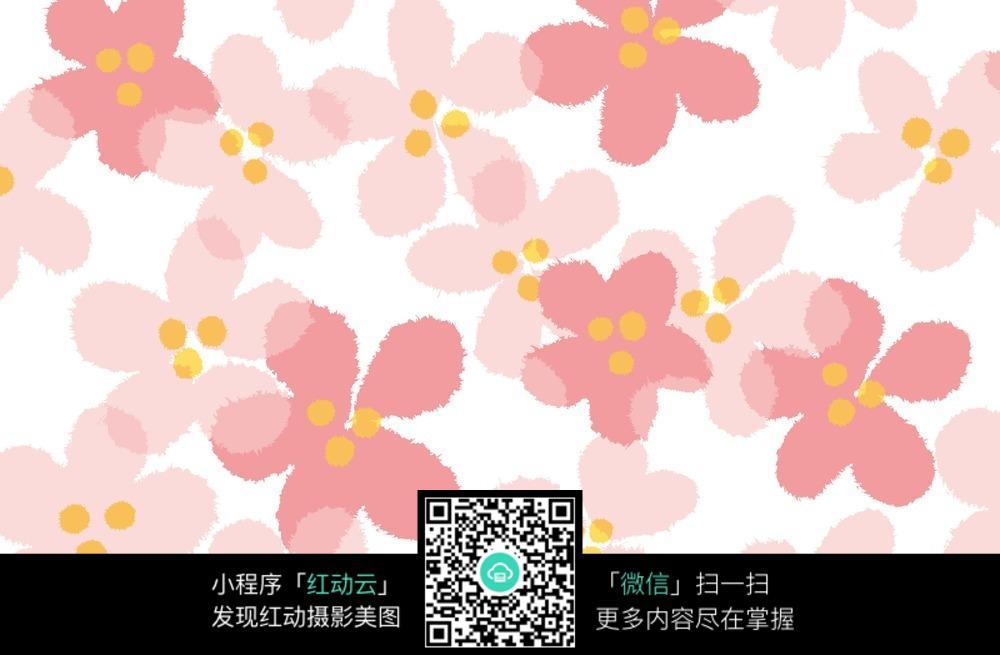 唯美粉色花朵底纹 平铺 背景图片