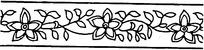 五瓣花简单镂空矢量素材