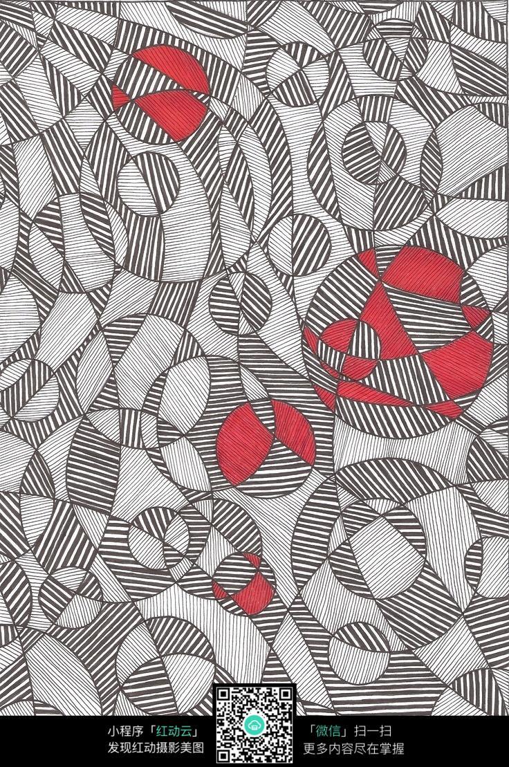 线圈纹理手绘插画设计