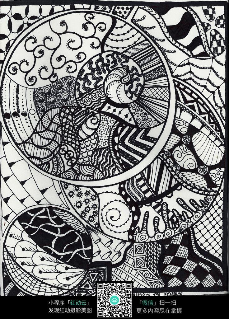 圆形黑白插画设计图片免费下载 编号5134972 红动网