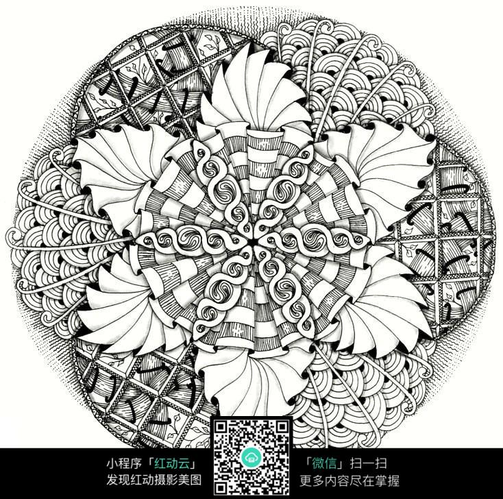 圆形花朵图案图片