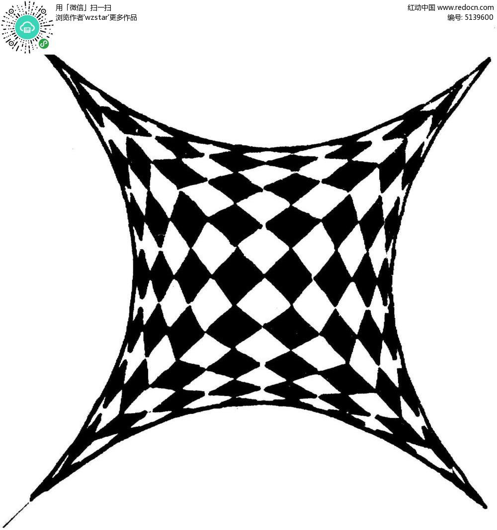 正方形花纹
