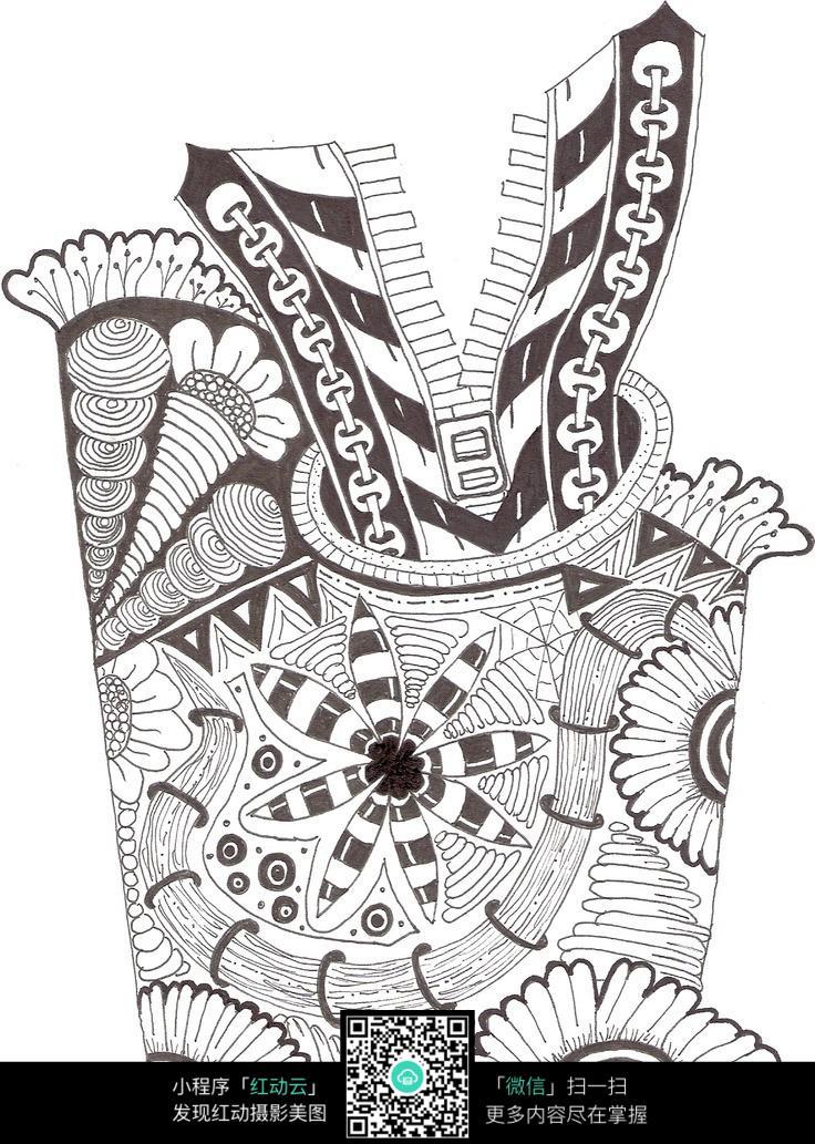 装饰品手绘插画设计图片