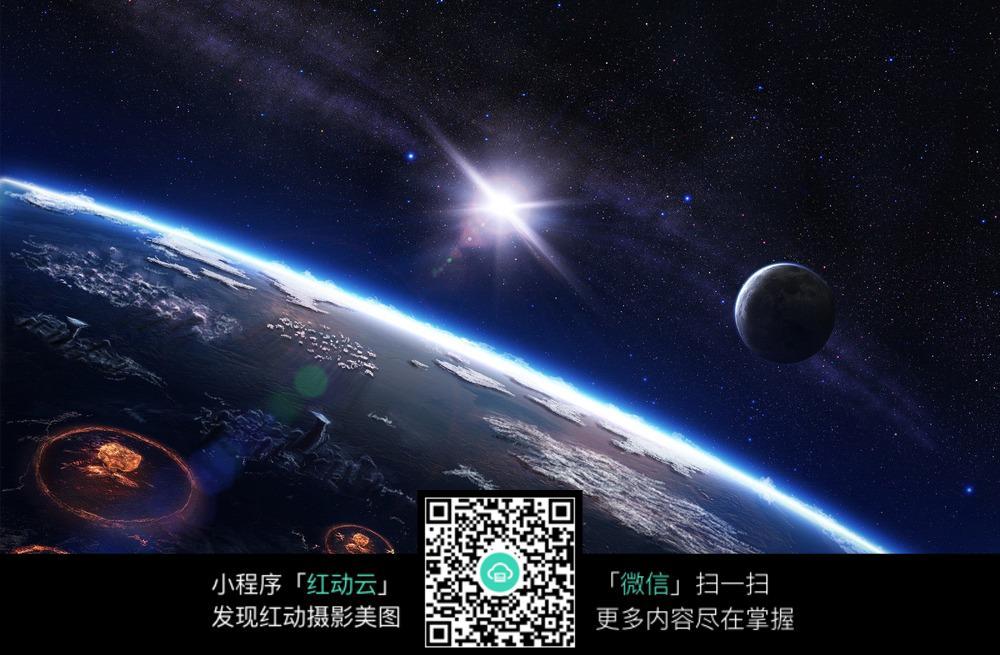 地球表面太空图