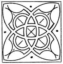 对称门窗装饰花纹花边矢量素材