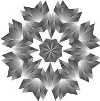 放射几何灰白花纹
