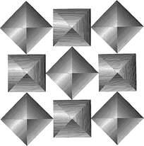 方形菱形阴影花纹
