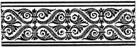 复杂黑色古典镂空对称花边