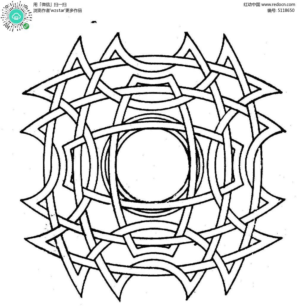 杂套叠图形花纹镂空素材TIF免费下载 编号5118650 红动网