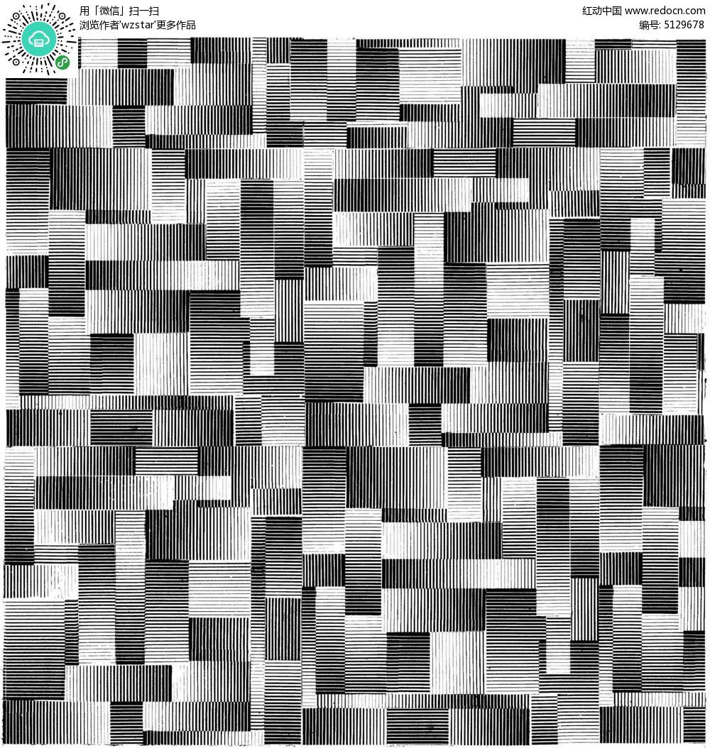 黑白灰马赛克方格图TIF素材免费下载 红动网