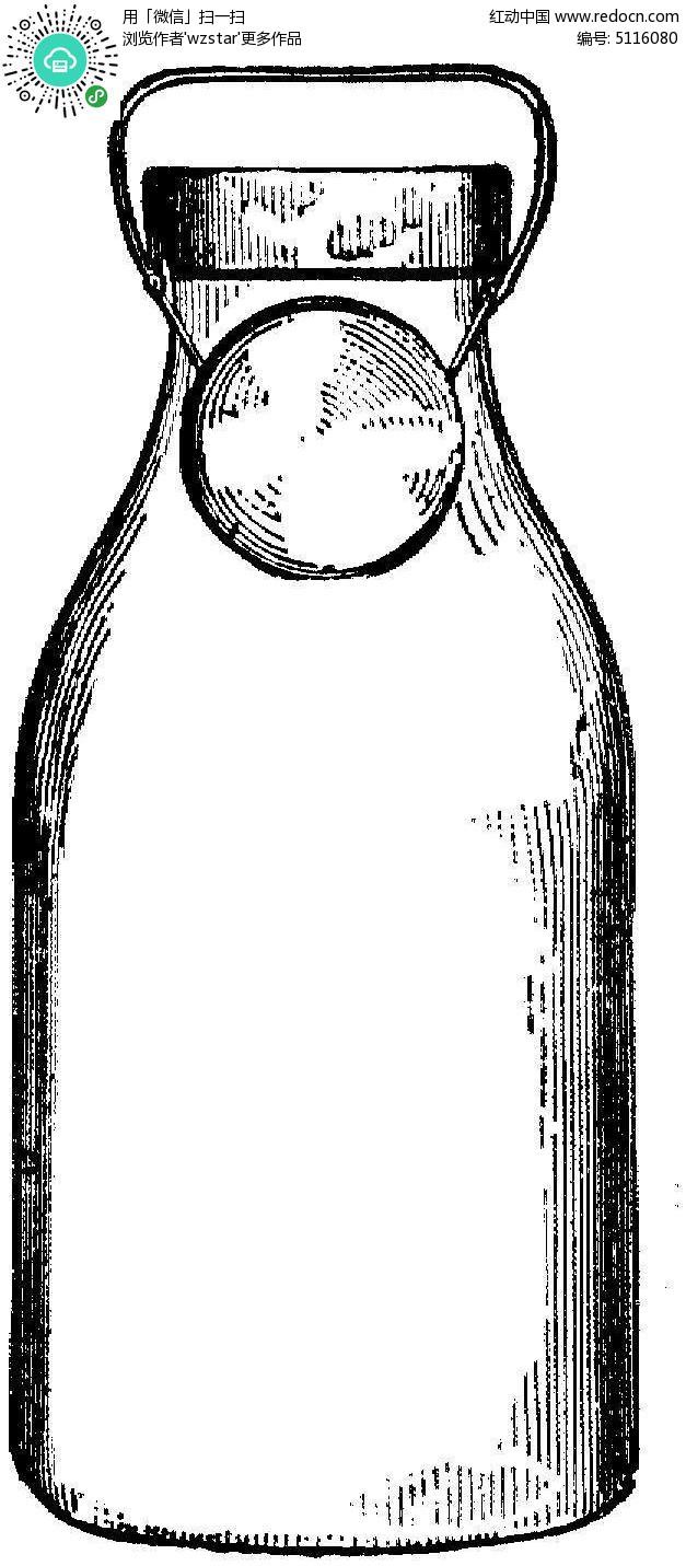 黑白牛奶瓶背景素材