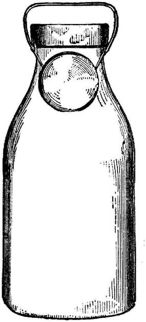 黑白涂鸦墙_手绘一个牛奶瓶EPS素材免费下载_红动网