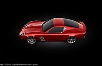 红色概念车设计